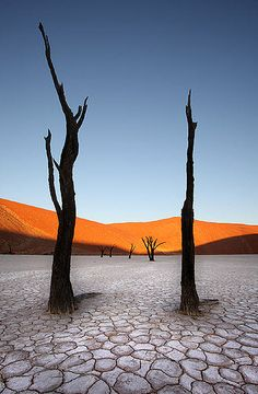 Different perspective on Namib Desert than the famous picture