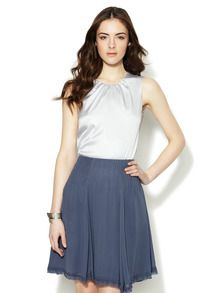 Silk Gathered Neckline Top by Emporio Armani at Gilt