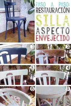 Cómo restaurar silla con aspecto envejecido | http://papelisimo.es/como-restaurar-silla-con-aspecto-envejecido/