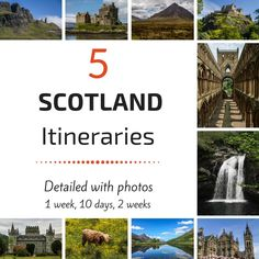 Planning your Scotland itinerary ? 5 Stop by Stop suggestions with photos for 7 days, 10 days and 14 - or just 5 days if you have limited time...