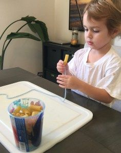 N is for noodles/ necklace.  Learning our letters toddler/preschool.