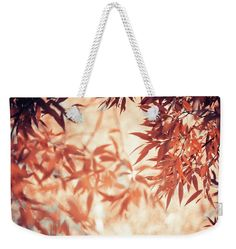 Jenny Rainbow Fine Art Photography Weekender Tote Bag featuring the photograph Autumnal Foliage Frame by Jenny Rainbow