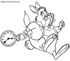 alice in wonderland coloring pages rabbit - Google Search