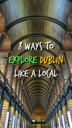 8 Awesome things to do in Dublin A list of unique things to do in Dublin made possible by Tourism Ireland and local friends. The UNESCO City of Literature is my favorite place to visit. Dublin Travel, Ireland Travel, Galway Ireland, Cork Ireland, Tourism Ireland, Paris Travel, Backpacking Ireland, Euro Travel, European Vacation