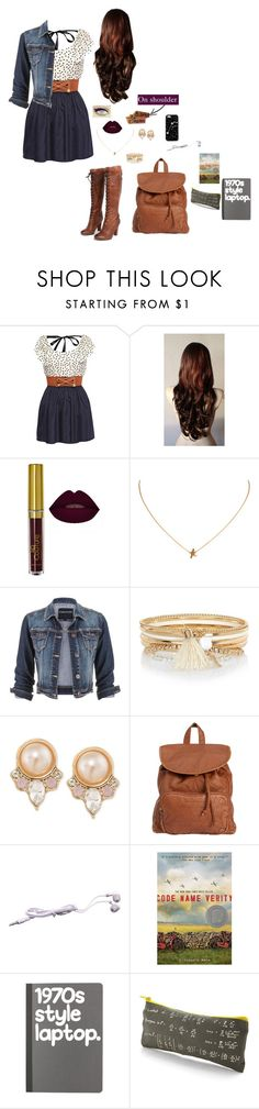 """""""School outfit"""" by nickpick ❤ liked on Polyvore featuring maurices, River Island, Carolee, Billabong and Kate Spade Saturday"""