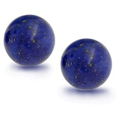 Bling Jewelry By Starlight Studs ($9.99) ❤ liked on Polyvore featuring jewelry, earrings, ball-earrings, blue, blue jewelry, blue stud earrings, ball stud earrings, blue earrings and ball earrings