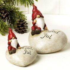 God Jul or Merry Christmas nisse (gnomes). Scandinavian Christmas.