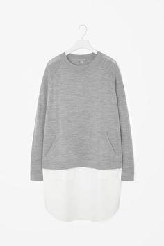 COS | Dress with merino wool top