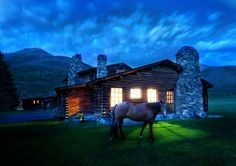 "Yellowstone, Montana, by Trey Ratcliff. From ""Blue Hour Photos Taken Around the World,"" My Modern Met."