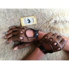 Peccary Fingerlose Halbfinger Handschuhe Autohandschuhe
