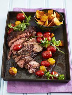 Prego rump steak with pumpkin chips   LoseitLoseit   The LCHF / banting way