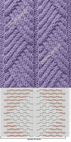 Knitting Patterns Stitches Knitting_Stitch -- This beautiful stitch is a simple crossover stitch. The pattern is outstandin.simple-to-create traveling diagonal cable patternUse one band w heavy duty yarnIsn't nice when you find a stitch pattern with Designer Knitting Patterns, Knitting Machine Patterns, Cable Knitting, Loom Knitting Patterns, Knitting Charts, Knitting Designs, Knitting Yarn, Stitch Patterns, Crochet Patterns