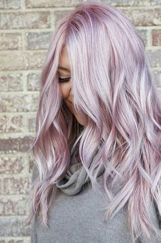 10 Most Expected Fall Hair Colors For Every Ethnicity : Hair Color Trends For Fall - Hair - Hair Colors Pastel Pink Hair, Hair Color Purple, Purple Blonde Hair, Pastel Blonde, Platinum Blonde, Rose Pink Hair, Lavender Hair Colors, Purple Ombre, Pretty Pastel