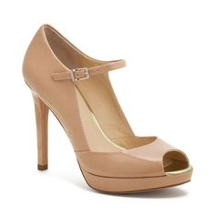 The Shawna Heel from Coach $248 The perfect nude peep toe?  Perhaps!