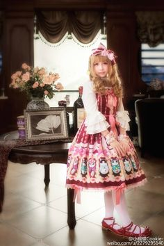 ---> Haenuli Whipped Cream Kitty JSK ---> Source/Model: http://weibo.com/u/2279295140 ---> Credits to the Chinese Lolita