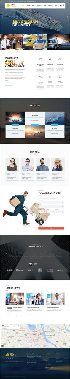 Crewtransport is well designed and eye-catching responsive #WordPress #theme for #cargo, delivery transportation and logistic company website with 3 unique homepage layouts download now➩ https://themeforest.net/item/crewtransport-wordpress-transportation-logistic-theme/18151033?ref=Datasata