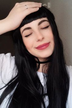 23 Chic Choppy Bangs for Women That Are Popular for 2019 - Style My Hairs , Source by CoiffeurCammile Wispy Bangs, Blunt Bangs, Short Bangs, Long Hair With Bangs, Synthetic Lace Front Wigs, Synthetic Wigs, Teased Ponytail, Long Faces, Straight Hair