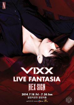 VIXX LIVE FANTASIA 'HEX SIGN' POSTER - N