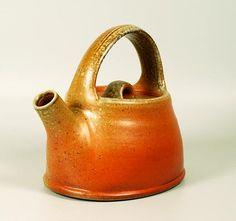 Micki Schloessingk  |  Wood-fired, salt-glazed, stoneware teapot (2011).