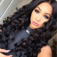 #Natural color France Lace 130% Density Brazilian  Human Hair Loose Wave Celebrity Full Lace Wigs