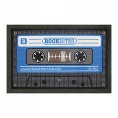 Rutschfeste Fußmatte - Kassette blau, 13,95