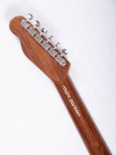 Tele f-hole neck, a fine walnut with vintage tuners!