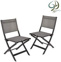 Super Preis-Leistungs-Verhältnis  2er Set Stühle: Grundlegendes modernes Klappbares Design für einfache Lagerung zu stapeln. Idealer Partner für den Balkon, die Terrasse oder im Garten. Elegante geschwungene Linien und ein ergonomisches mechanisches Design verbessern den Komfort, die Stabilität und die Haltbarkeit des Stuhls Hochwertige Verarbeitung: Leichtes Design.1.5mm dicker und robuster Aluminiumrahmen sorgt für eine mutige Ausstrahlung und erhöht die Haltbarkeit und… Rocking Chair Plans, Rattan Garden Furniture Sets, Diy Chair, Adirondack Chairs, Folding Chair, Conservatory, Aluminium, Indoor Outdoor, Modern