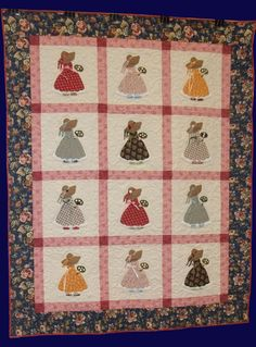 Sunbonnet Sue Strawbonnet Sue Quilt by PrairieCottageCorner Vintage Quilts Patterns, Crochet Doily Patterns, Antique Quilts, Quilt Patterns Free, Applique Patterns, Doilies Crochet, Sunbonnet Sue, Quilt Baby, Paper Embroidery