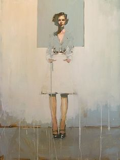I can't say I've ever been intimidated by the subject of a painting before, but these fierce females give me the tongue-tied jitters.  Michael Carson, a Minnesota native,  doesn't…