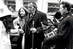 John Lennon and Salvador Dali, Paris, 1969