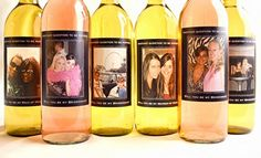 Will you be my bridesmaid gift - wine bottle with a picture