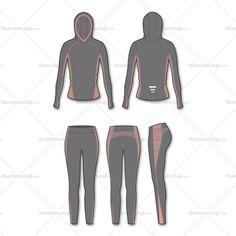 Women's Fashion Seamless Sport Top And Legging Flat Template Yoga Fashion, Fashion Flats, Sport Fashion, Women's Fashion, Fashion Tips, Fashion Design Jobs, Fashion Design Sketches, Illustrator, Catalog Online