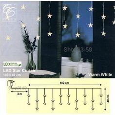 LED Lichtervorhang 20 Sterne 180x40cm warmweiss Best Season 2006-63