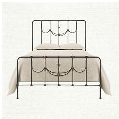 inspired by a french wrought iron antique, our ingrid bed is as pristine and delicate as its predecessor, with the added luxury of modern-day proport