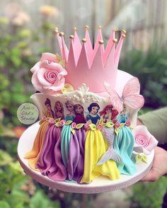 Disney Princess Birthday Cakes, Baby Birthday Cakes, Disney Birthday, 5th Birthday, Disney Cakes, Cake Pictures, Girl Cakes, Cute Cakes, Cake Art