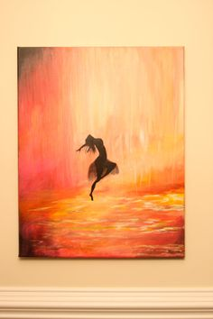 Free shipping now until 5/29/13. Coupon Code: MEMORIAL13 with a minimum purchase of $50. Abstract acrylic canvas of a dancer in the rain by brandilee007, $200.00