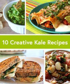 10 Creative Recipes With Kale - Including my sweet potato. black bean and kale enchiladas