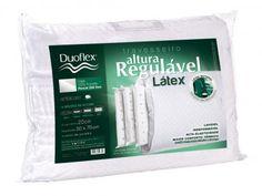 Travesseiro Antiácaro 48x68cm - Duoflex Altura Regulável Látex Rl1103 com as melhores condições você encontra no Magazine Siarra. Confira!