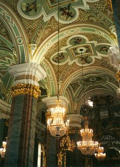 Mosaic Ceiling: Sts. Peter & Paul Cathedral: St. Petersburg by curry15, via Flickr
