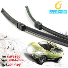 Free Postage ! Automotive Soft Rubber Wiper Blades Window Frameless Windshield 1Pair For 2004-2006 Volvo V50 #Affiliate