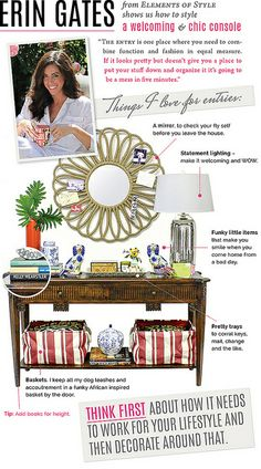 Console Styling Tips from Erin Gates + I Suwannee