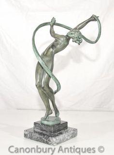 Original Le Faguays Art Deco Bronze Figurine Le Verrier Foundry
