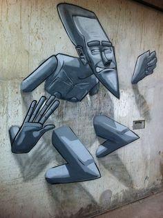 Street art   Mural (Macaé, Rio de Janeiro, Brazil, Dec13) by Marcelo Eco Marchon