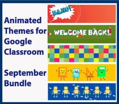 Animated Google Classroom Headers (September) for Distance Learning Welcome Back Banner, Classroom Banner, Classroom Decor, School Tool, School Stuff, Online Classroom, Free Education, Google Classroom, Teacher Newsletter