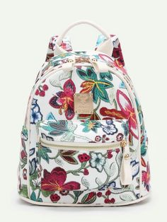 SheIn offers Flower Embroidered PU Backpack   more to fit your fashionable  needs. d20495042c