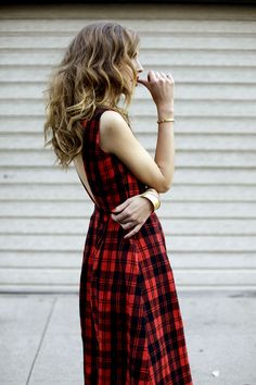 Chiara is wearing Givenchy boots,Stylekeepers plaid dress,Stroili Bangle...