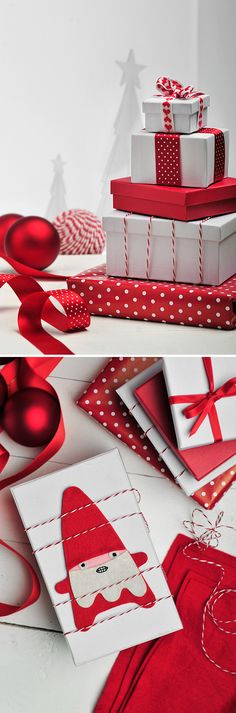 Red and white wrapping