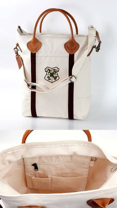 Hogwarts House Canvas Tote by FanFash on Etsy