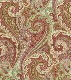 Home Decor 8 X8 Fabric Swatch Williamsburg Jaipur Paisley Prune