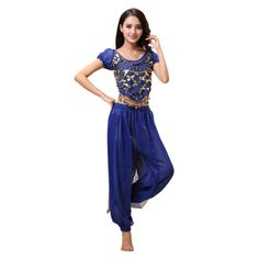Haodasi Belly Dance Costume for Women Dancing Top Lantern Pants Professional Carnival Dancer Outfit Suit